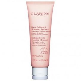 Espuma Limpiadora Facial Calmante Con Extracto Hierbas de los Alpes Clarins 125 ml