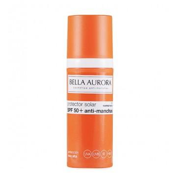 Fotoprotector Facial Fluido Antimanchas Piel seca SPF50 Bella Aurora 50 ml