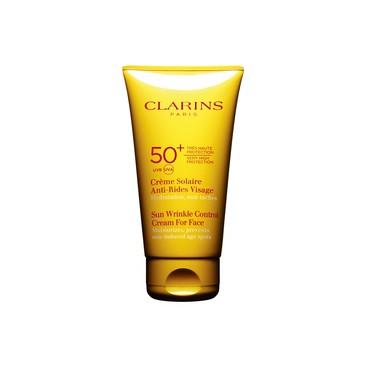 Crema Solar Antiarrugas para el Rostro UVA/UVB 50+ Clarins 100 ml