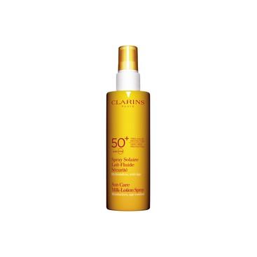 Spray Solar Leche-Fluido Seguridad UVA/UVB 50+ Clarins 150ml