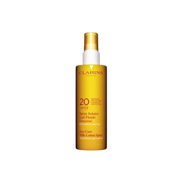Spray Solar Leche-Fluido Suave Protección media UVA/UVB 20 Clarins 150 ml