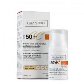 CC Cream Tono Claro Antimanchas SPF 50+ Bella Aurora 30 ml