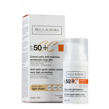 CC Cream Tono Claro Antimanchas SPF 50+ Bella Aurora 30 ml