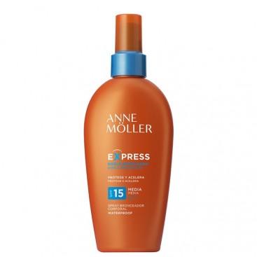 Anne Moller Express Bronceador Rápido Corporal spf15 spray 200 ml